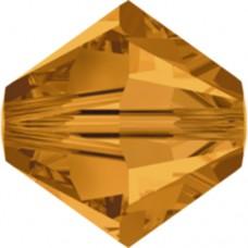 Swarovski® Crystal Bicone 4mm Topaz