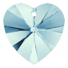 Swarovski® Crystal Heart 14mm  Aquamarine