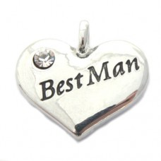 Wedding Heart Charm - Best Man