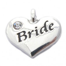 Wedding Heart Charm - Bride