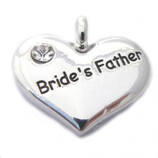 Wedding Heart Charm - Brides Father