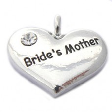 Wedding Heart Charm - Brides Mother