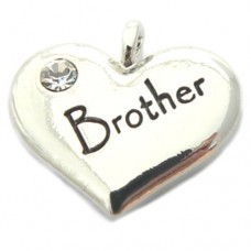 Wedding Heart Charm - Brother