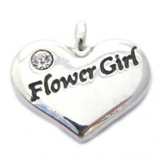 Wedding Heart Charm - Flower Girl