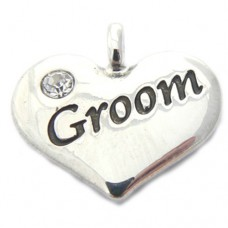 Wedding Heart Charm - Groom