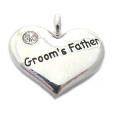 Wedding Heart Charm - Grooms Father
