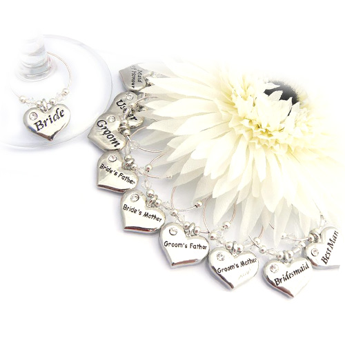 Bride and Groom Charm Set of 10