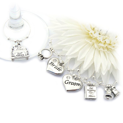 Wedding Wine Glass Charms | Wedding Day Wine Charms