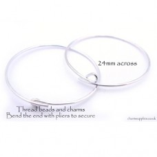 Wine Glass Charm Rings - Silver Tone - Pack of 200 - NEW LARGER PACK