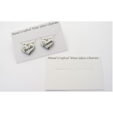 Wine Glass Charms Mounting Card - For Set of 2