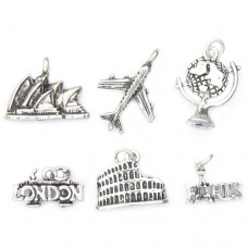 World Travel Theme Charms