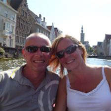 Sue and Adam in Bruges 2011