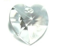 SWAROVSKI HEART - 10mm x 10mm - Crystal AB