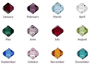 Swarovski bicone beads. 5301 4mm x 24 - Birthstone collection