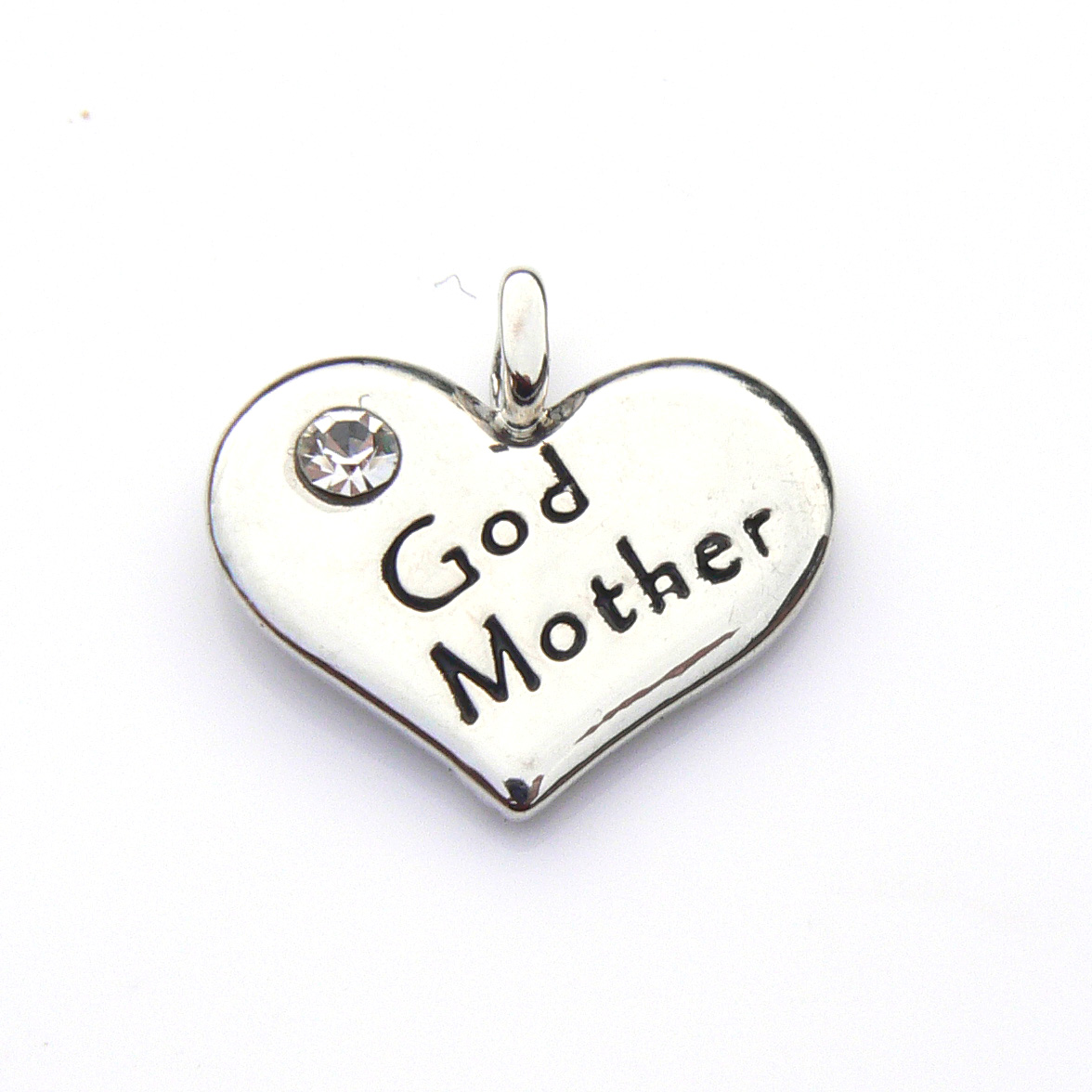 God Mother Heart Charm