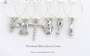 Classic Wine Glass Charms - with Gift Bag and Label