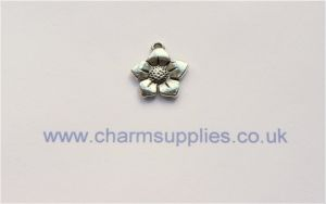 Flower Charms - Silver Plated - Lead and Nickel Free