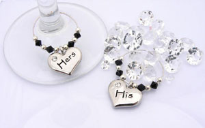 His and Hers Wine Charms