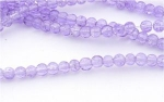 Glass Crackle Beads - 4mm - Lilac x 100