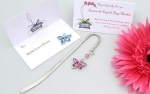 CRYSTAL DRAGONFLY Bookmark - Gift Bag and Card