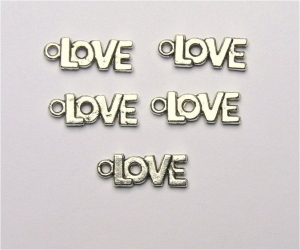 Love Charms - Silver Plated - Nickel Free