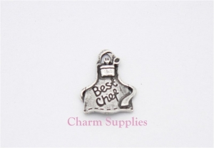 Best Chef Charm - Silver Plated