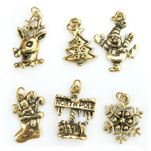 Christmas Charms - Vintage Gold Plated