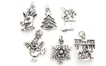 Christmas Charms - Vintage Silver Plated