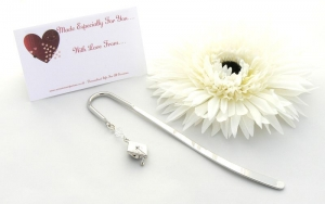 GRADUATION GIFT Mortar Board Charm Bookmark - Gift Bag and Card