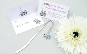 CRYSTAL DOG Bookmark - Gift Bag and Card