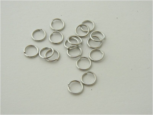 Jump Rings - Silver Plate - 8mm - 200 per Pack