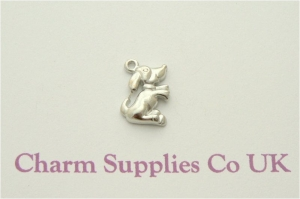 Dog Charms - Silver Plated - Pack of 10
