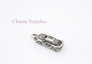 Racing Car Charm - Silver Plated