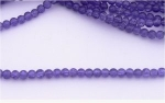 Glass Crackle Beads - 4mm - Deep Blue x 100