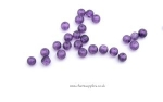 Glass Crackle Beads - 4mm - Amethyst x 100