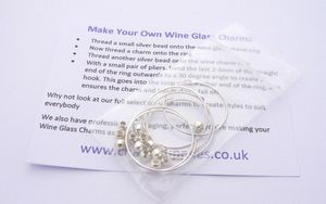 Make Your Own Wine Glass Charms Kit - Instructions Included