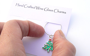 christmas wine charm diy kit