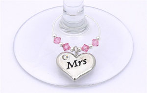 mr and mrs anniversary gift charms
