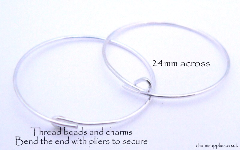 Wine Glass Charm Rings - Silver Tone