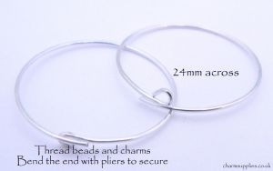 Wine Charm Rings - Bright Silver Plate - 50 Per Pack