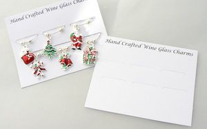 Wine Glass Charms Mounting Card - Packaging - Square