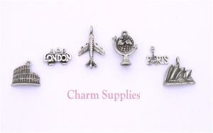 World Travel Theme Charms - Sidney Paris Rome London
